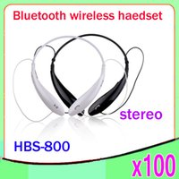 ambient noise headphones - 100 Ambient Noise Cancelling Headphone Bluetooth Stereo Headset HBS Neckband Style Sport Earphone For SmartPhone ZY EJ