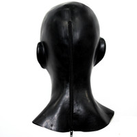 anatomical ear - New plus thick mm Anatomical D mask w ears fetish latex hood Sexy rubber Smile face heavy men women