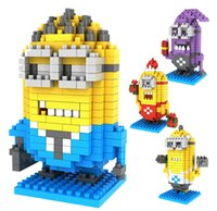 Wholesale children hot minion bob kevin loz diamond blocks Miniature Building Blocks Minions Model minions PVC Action Figures toys D1743