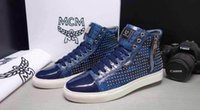 Wholesale New Fashion Style Fashion MCM Visetos Casual Fashion Sneakers Shoe Colors Sz q057