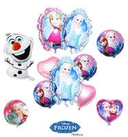 balloon pump - HOT SALE frozen party supplies mixed air balloons frozen helium foil baloon olaf Aluminium Coating balloons inflatable pump globos