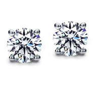 Wholesale FG Solid k White Gold Carat Natural Niamond Earrings For Women
