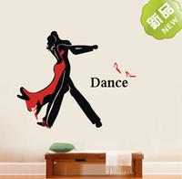 ballroom dance art - Do it Ballroom dancing wall stickers school Home Gym sofa wall art decals CM