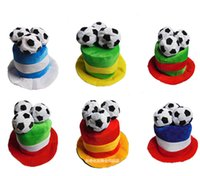 bar top games - Football Game Cheer Carnival Props Cap Football Fans Supplies Bar Party Supplies Hat D Football Decoration Top Hat