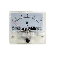 Analog Only AC 0-10A Fine Tuning Dial Panel Ampere Meter AC 0-10A 85L1-A order<$18no track