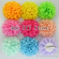 alternatives shoes - xayakids baby girls alternative chiffon hair flowers WITH clips for shoes clothing hair DIY garment accessories HH0