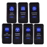 arb switch - V A Bar ARB Carling Rocker Toggle Switch Blue LED Light Car Boat Sales order lt no track