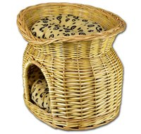 Wholesale Handmade pdog house willow dog basket china manufacturer lovely and comfortable willow pet house basket wicker pet house basket