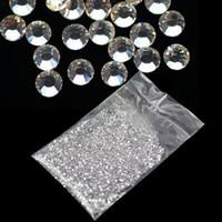 Wholesale Hot Selling new Clear Glitter mm Hot Crystal Rhinestone Fix Rhinestone d Nail Art Decoration b014