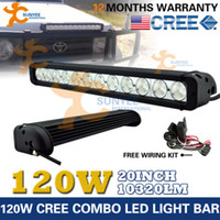 4wd parts - 20INCH W SINGLE ROW CREE LED LIGHT BARS WORK DRIVING OFFROAD WD BAR VS W Parts Accessories Car Truck Parts