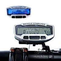 Wholesale 2014 New Functions Waterproof Backlight LCD Bike Bicycle Computer Odometer Speedometer Velometer Dropshipping