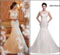 Cheap Designer Wedding Dresses Backless Tulle Wedding Dress Best Model Pictures Trumpet/Mermaid Wedding Gowns with Beaded