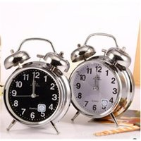 Wholesale Classic Silent Retro Stereo Doubles Night Lights Creative Children s Alarm Clocks Home Accessories Decoration