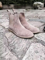 Wholesale Khaki Grey Brown Black BV slp brand designer european style ankle mens chelsea boots casual yeezy kanye west men shoes