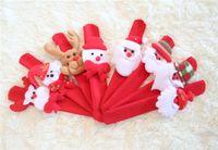 Wholesale 2015 hot sale Xmas Wristband christmas gifts Santa Claus Polar Bear wrist strap plush toys cristmas decorations