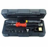 HS-1115K 10 en 1 kit de herramienta de la antorcha de soldadura de hierro sin cuerda de gases de soldadura que envía libremente