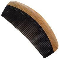 hair salon tools - A002_ Hair Styling Tools Green sandalwood Boutique yak horn combs Professional Salon Handmade hairdressing brush Antistatic massage comb