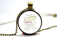 american values - 10PCS J R R Tolkien If Most Of Us Valued Food Cheer Quote Necklace