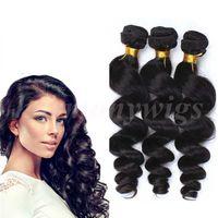 Wholesale Skin Hair Wefts - Brazilian Hair Weaves human hair wefts Loose wave 8-34inch Unprocessed hair bundles Peruvian Malaysian Indian Brazilian hair extensions