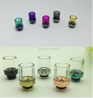 Wholesale Drip Tips Metal Mouthpiece Pyrex Glass drip tip for rebuildable RDA RBA patriot helio trident atty mephisto plume veil tugboat atomizer