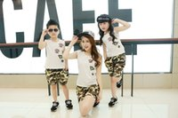 camouflage tank top - Summer Family sets mother and daughter clothes Boys and girls Tank tops vest T shirt army green camouflage print shorts kids clothes