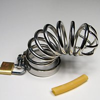 male chastity belts - 10pcs Lengthen Male Chastity Devices Stainless Steel Sex Crafts Cock Rings Penis Locking Chastity Belt