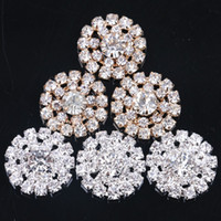 Wholesale hot sale DIY mm Round Sunflowers Embellishment alloy Buttons Jewelry findings gold silver choose Crystal Cluster Buckle
