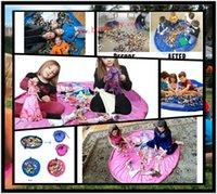 Wholesale 60Pcs cm Diameter Portable Kids Toy Storage Bag Play Mat Toy Organizer Bin Box L301
