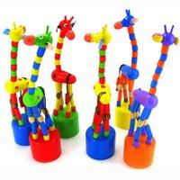 Wholesale Wooden Toys Developmental Dancing Standing Rocking Giraffe Gift For Baby Kids N181