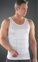 Wholesale Hot sale men shaper Slim vest Corset girded beer belly faja hombre white black