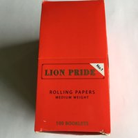 Cheap LION PRIDE SIZE 70mm*36mm cigarette rolling paper 100 booklets a box 50 papers a booklet for 70mm rolling machine grinder glass bong hot