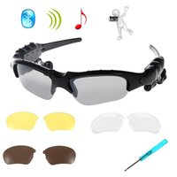 Wholesale Wireless Bluetooth Stereo Sunglasses Headset Sports Sun Glasses Handsfree Support Musi for Smart Phone PC Tablet IPHONE6 PLUS Samsung HTC
