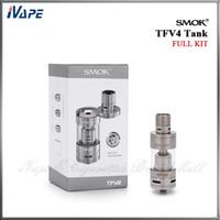 available - 100 Original Smok TFV4 Atomizer Smoktech ml TFV4 Sub ohm Tank Single Full Kit Available Fit Smok X cube II Xpro M80 Plus