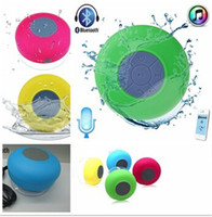 Wholesale Portable Waterproof Wireless Bluetooth Speaker mini Shower speaker Car Handsfree Receive Call Music Suction Phone Mic Promotion free ship