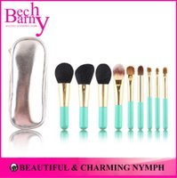 hair brush set - New High Quality Pinceis Soft Goat Hair Makeup Brushes Lovely Makeup Brush Set With Leather Brush Bag