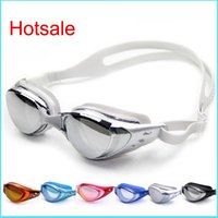 Wholesale Summer Electroplate Waterproof Swimming Goggles Adult PC Leisure Goggles