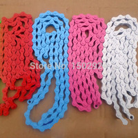 Wholesale Road MTB BMX Bike Bicycle Cycle Fixie Fixed Gear Single Speed Chain x1 Red White Blue order lt no track