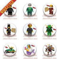 Wholesale The Lego Movie inches mm HYB1137 Buttons Pins Badges lt Round Badges Decoration Party favor Kid s Gift