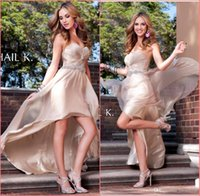 Cheap New 2015 Grace Prom Dresses Teens Hi Low Sweetheart Formal Evening Dresses Ruched Sash Pageant Prom Homecoming Dresses Plus Size Custom Made