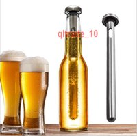Wholesale 60 BBA5380 Stainless Steel Wine Liquor Chiller Cooling Ice Stick Rod In Bottle Pourer Beer Chiller Stick Chill Alcohol Ice Drinks Wine Cold