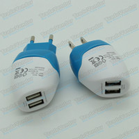 Wholesale Mili Dolphin Mini USB Dual Port EU US Plug Wall Charger AC Home Travel Charger Adapter For iPhone Samsung iPod iPad Smartphones Tablets