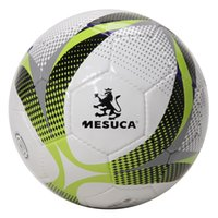Wholesale Mesuca Handing Sewn PU Soccer Ball MAB50110 Two Colors Football Match Training Ball for Adult