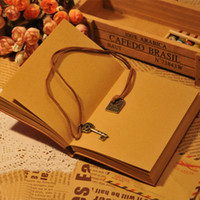 Wholesale Classic Retro Vintage PU Leather Light Brown Blank Pages Diary Notebook