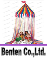 Wholesale nylon big top canopy tent kid play tent hanging circus canopy tent LLFA79