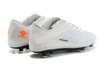 venom - Men Soccer Shoes Edition Venom Phantom FG Cleats Electro White Black Orange Men s Athletics American Football Shoes Sp
