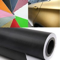 Wholesale High Quality Black D Carbon Fiber Vinyl Film Sticker Air Free Matt Black Film Car Stickers Wrapping Size m Roll