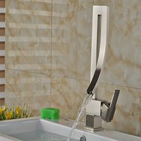 bathroom vanity faucets - And Retail Modern Elegant Brushed Nickel Bathroom Basin Faucet Single Handle Hole Vessel Vanity Sink Mixer Tap