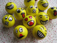 assorted stress balls - Emoji Faces Squeeze Stress Ball Hand Wrist Finger Exercise Stress Relief Therapy Assorted Styles New Christmas party gifts