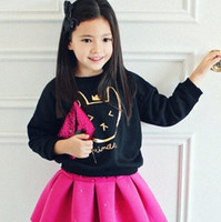 Wholesale Kids Unisex Crow Rabbit Pring Pure Cotton white black colors options hoodies new arrival sweatshirt for girl boy FREESHIP for T