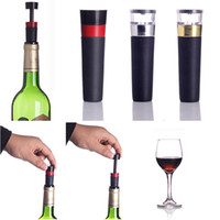 Wholesale 1 Vacuum Sealer Plastic Wine Champagne Air Saver Bottle Stopper Clouser Preserver PumpPlug Colors